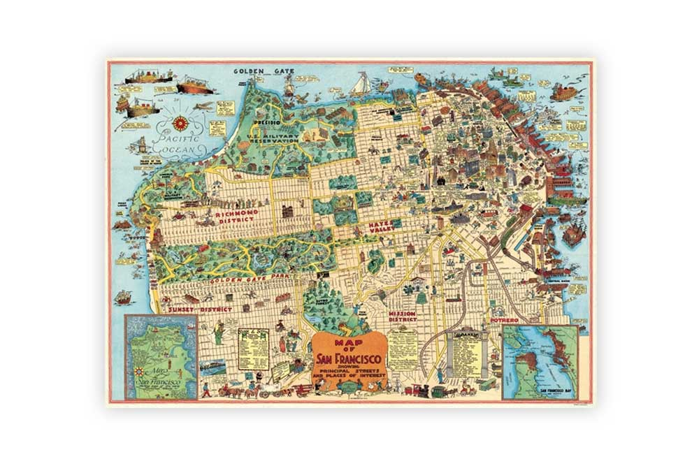 Map of San Francisco Poster Paper