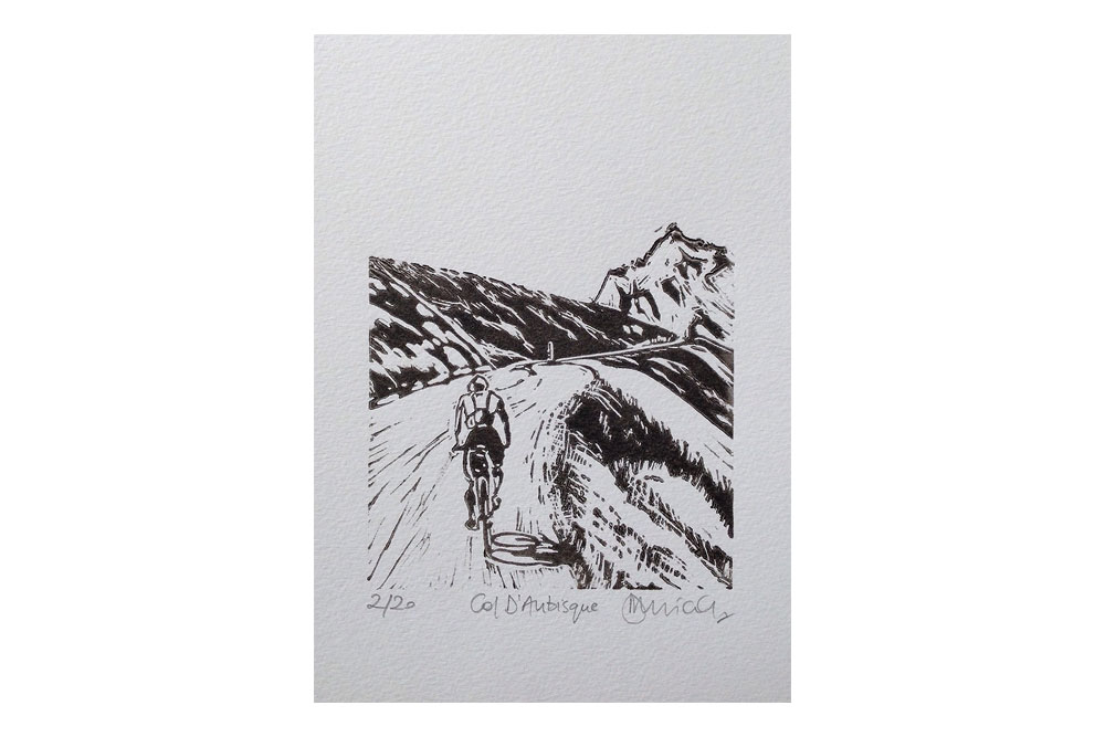 Col D'Aubisque Cycling Print by Dave Flitcroft