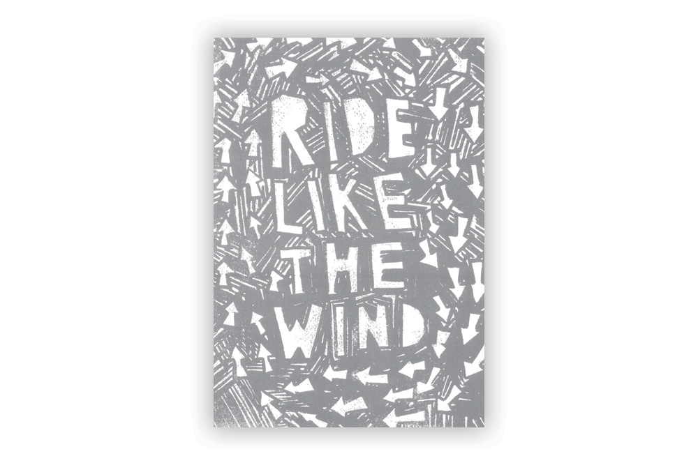Ride like the Wind Bicycle Greeting Card by Anthony Oram