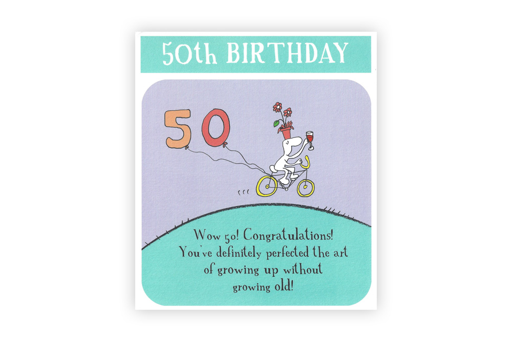 50th Birthday Bicycle Greeting Card