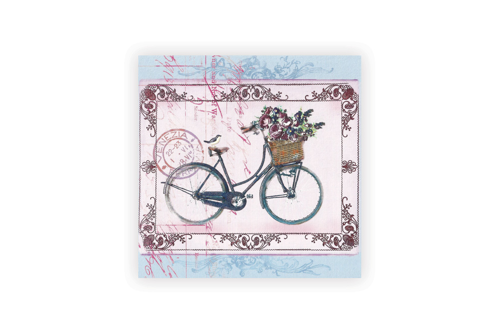 La Bicyclette Bicycle Greeting Card