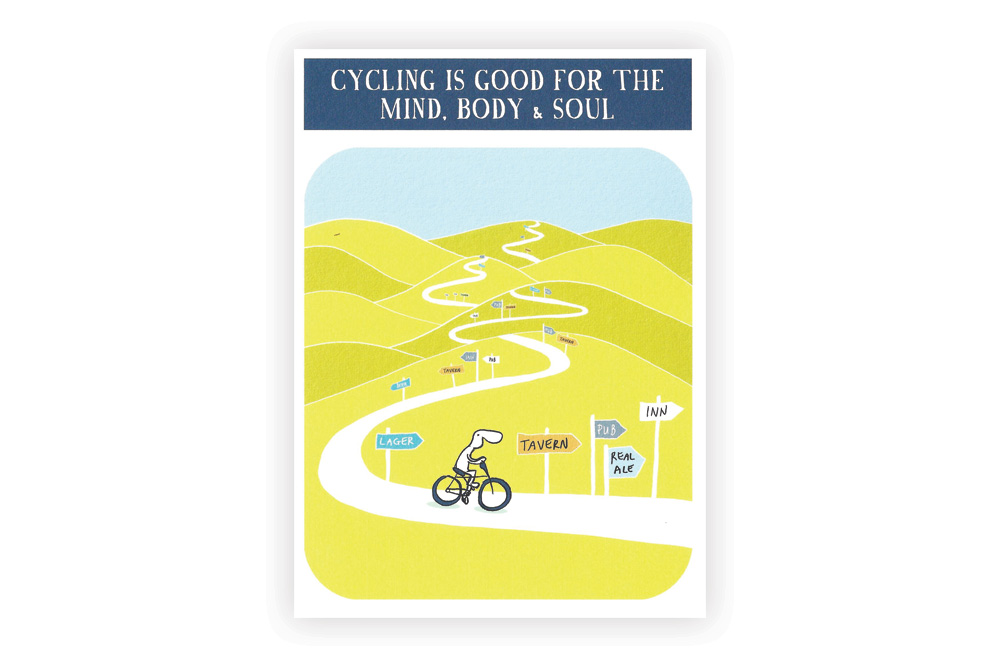 Cycling is good Bicycle Greeting Card