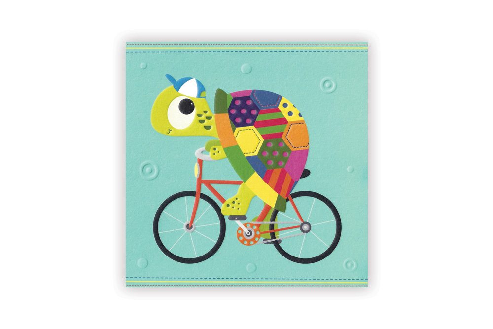 Tortoise Bicycle Greeting Card