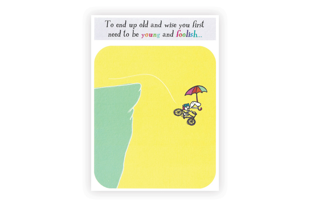Young and foolish Bicycle Greeting Card