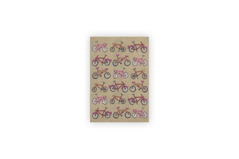 Pocket Typewriter Set of 5 Bicycle Note Cards
