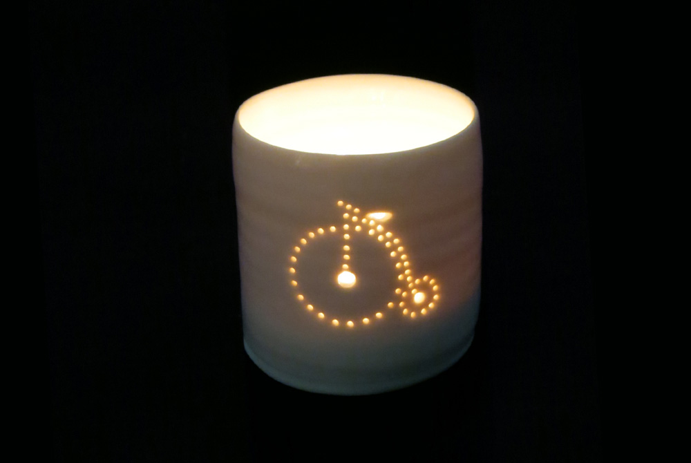 Luna Mini Penny Farthing Bicycle Tealight