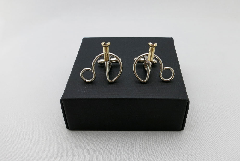 Respoke Bicycle Jewellery Penny Farthing Cufflinks