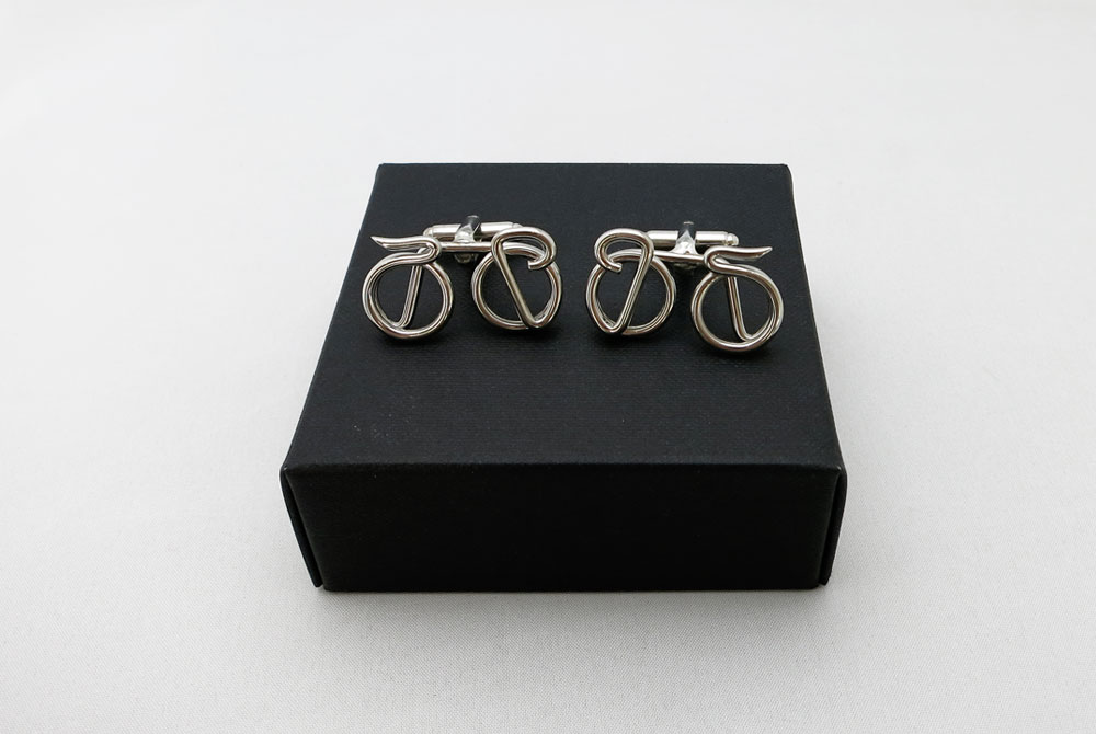 Respoke Bicycle Jewellery – Racing Bicycle Cufflinks