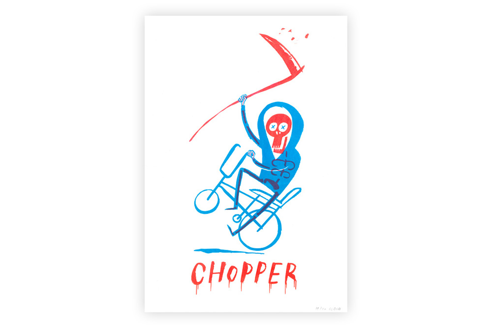 Raleigh Chopper Cycling Screen Print by Beach-O-Matic