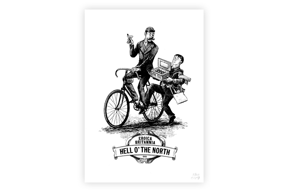 Hell o' the North Cycling Print by Otto von Beach