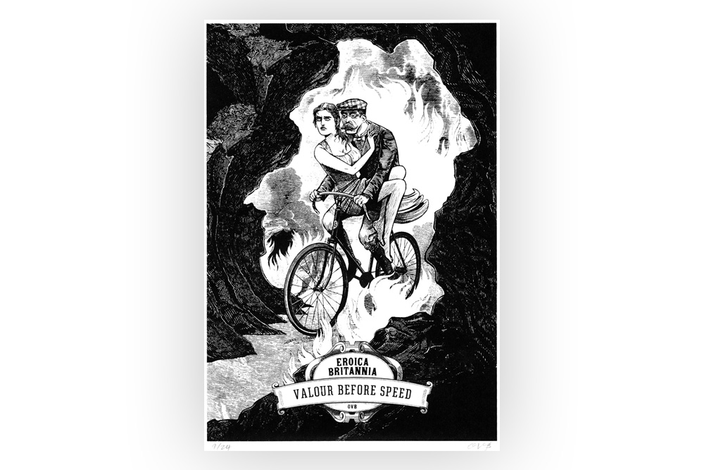 Valour Before Speed Cycling Print by Otto von Beach