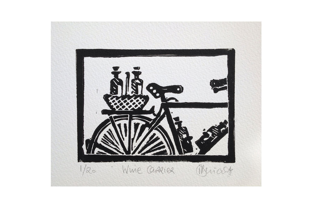 Wine Carrier Cycling Print by Dave Flitcroft