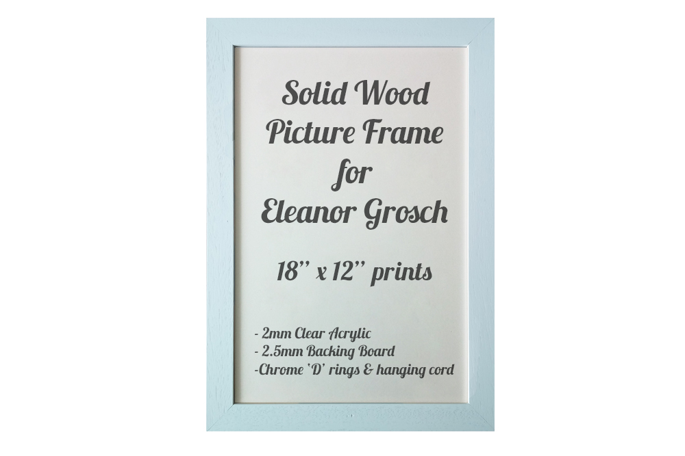 White Picture Frame for Eleanor Grosch prints