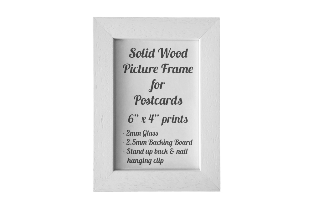 White Picture Frame for Postcards