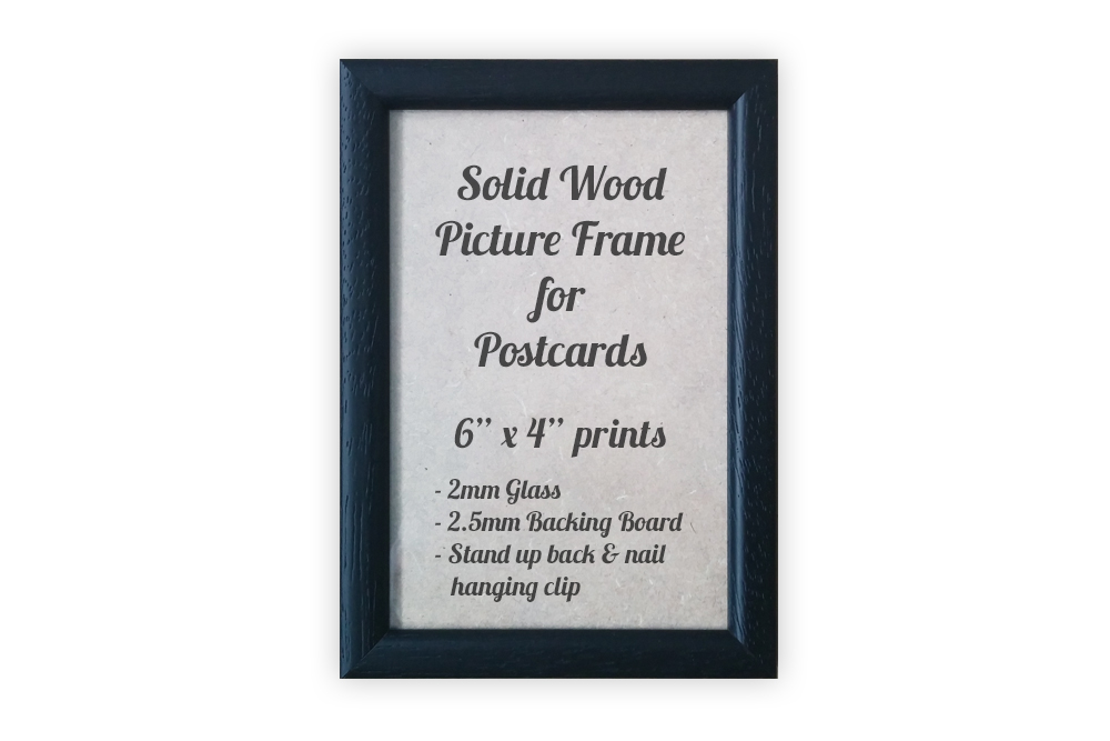 Black Picture Frame for Postcards