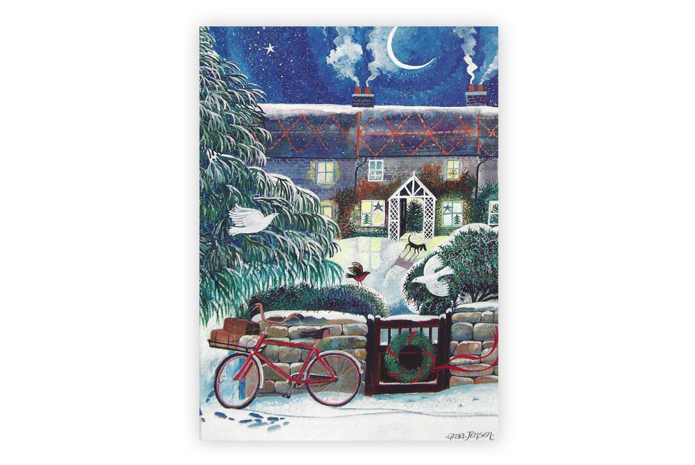 Postie's Bike Bicycle Christmas Cards x8