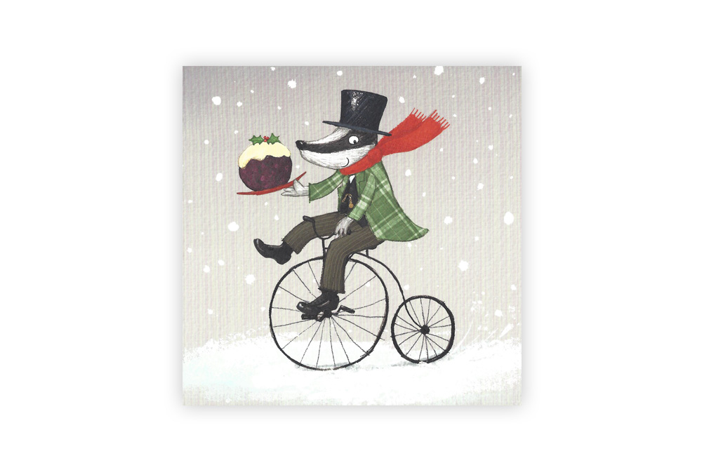 Special Delivery Bicycle Christmas Card x8