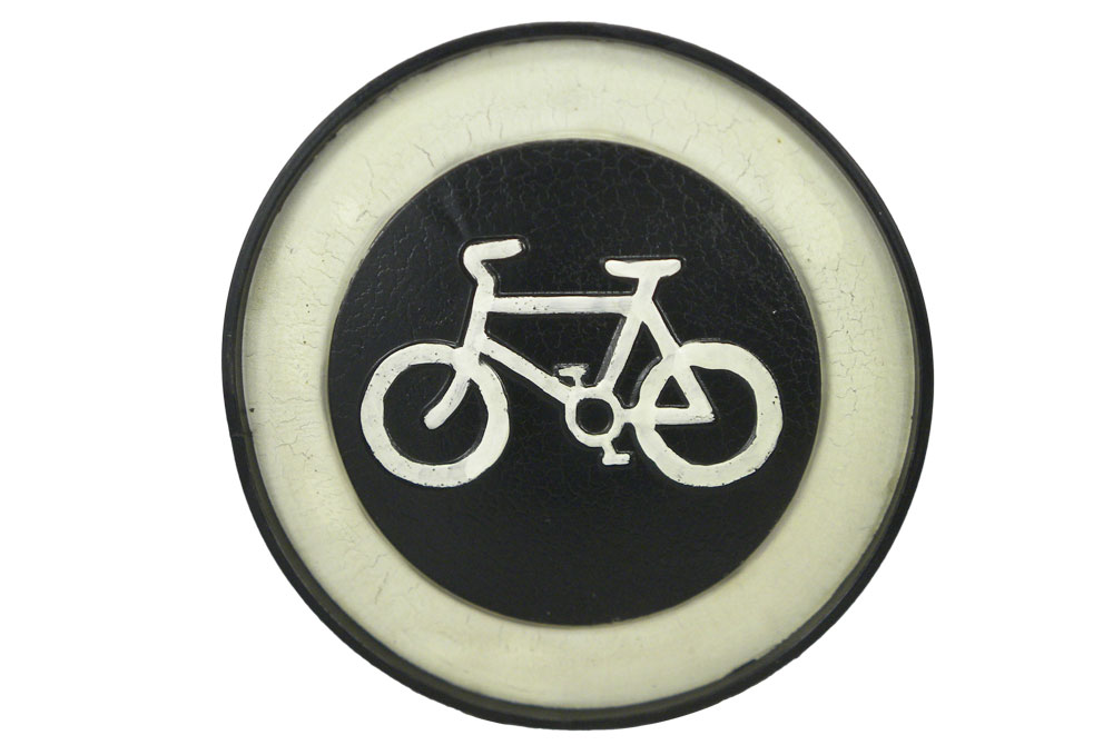 Black Velo Vintage Metal Bicycle Sign