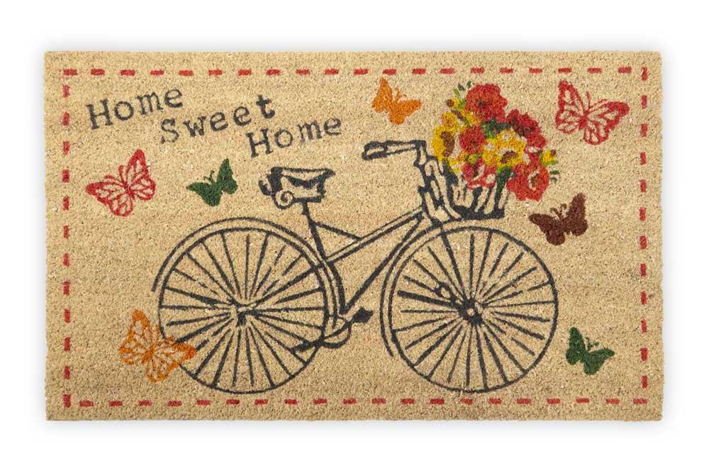 Home Sweet Home Bicycle Doormat