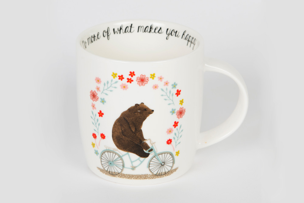 Bear on a Bicycle Mug