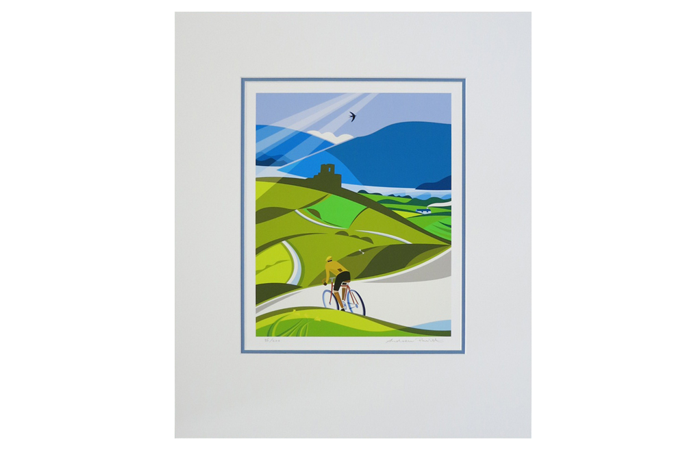 Lost Lanes Wales Cycling Print by Andrew Pavitt