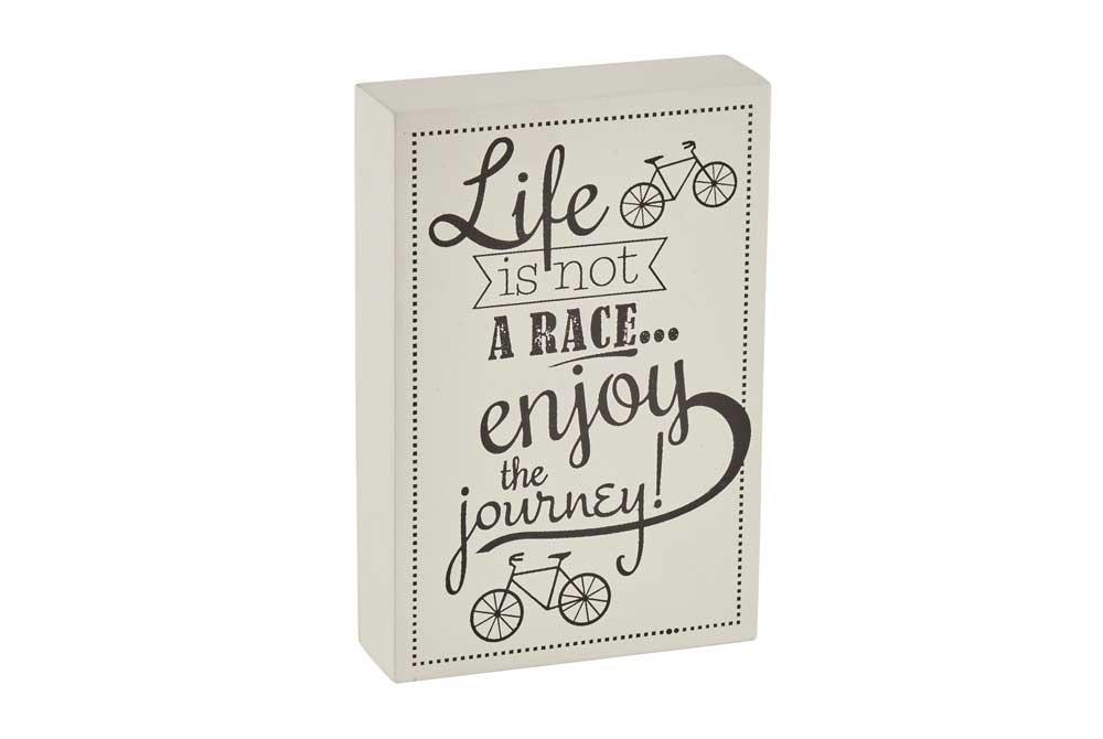 Enjoy the journey Bicycle Art Block