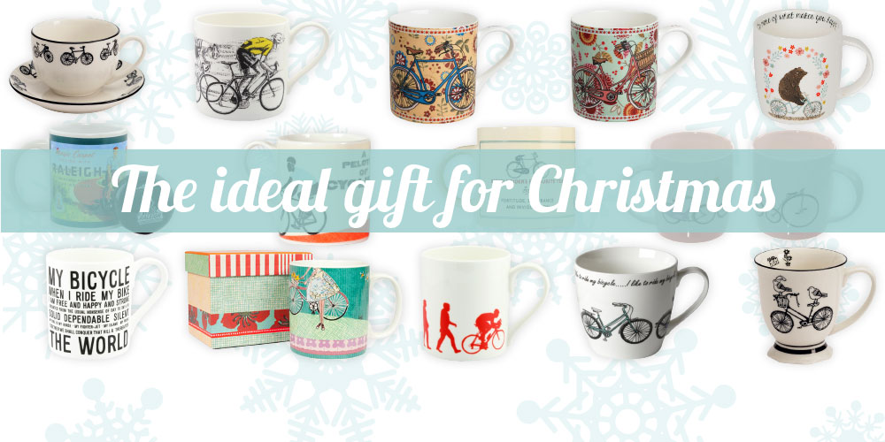 Choose from over 30 different bicycle mugs