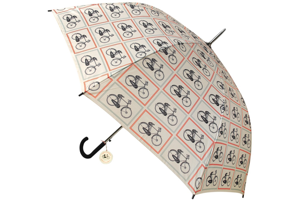 Bicycle Riders Pattern Umbrella