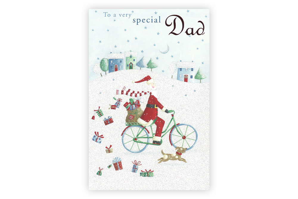 Dad Bicycle Christmas Card