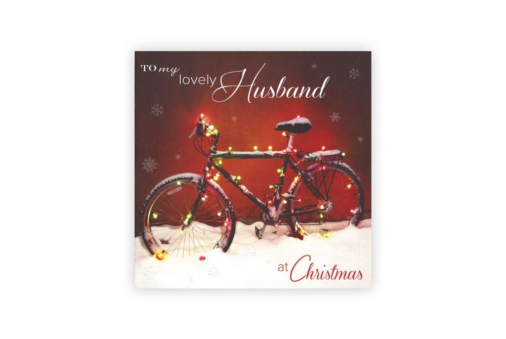 Husband Christmas Cards Uk.Husband Bicycle Christmas Card Cyclemiles