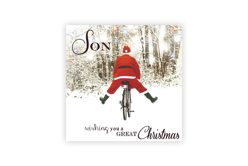 Son Bicycle Christmas Card