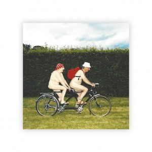 Naked Tandem Bicycle Greeting Card