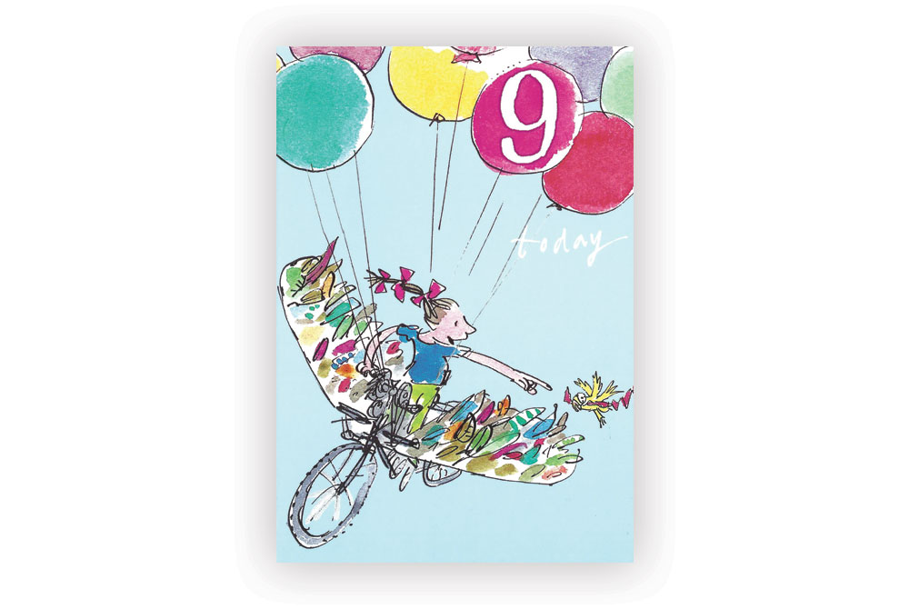 Happy 9th Birthday Bicycle Greeting Card