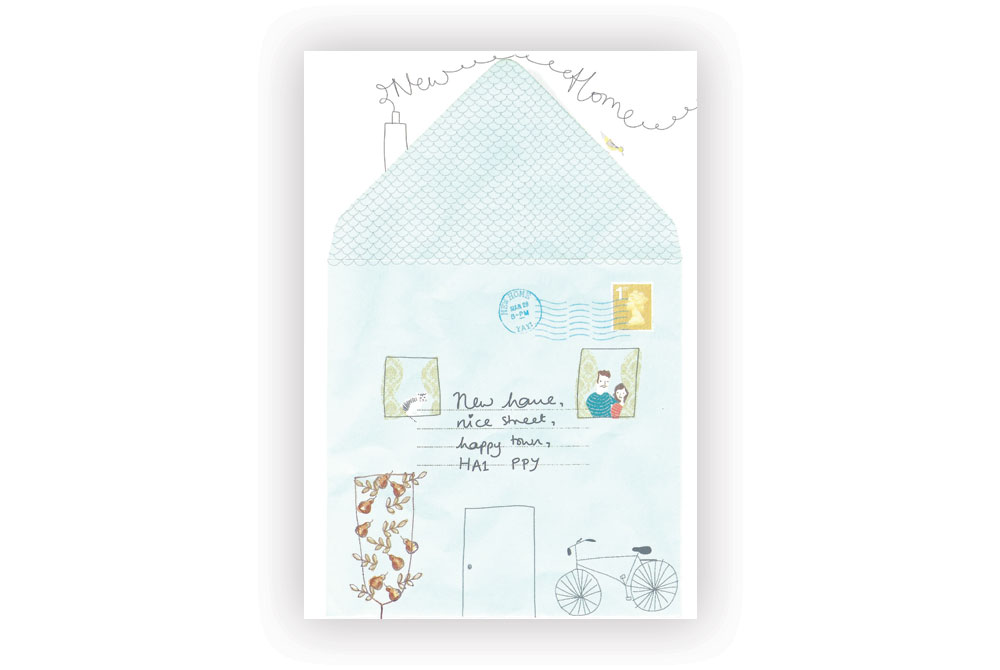 New Home Bicycle Greeting Card