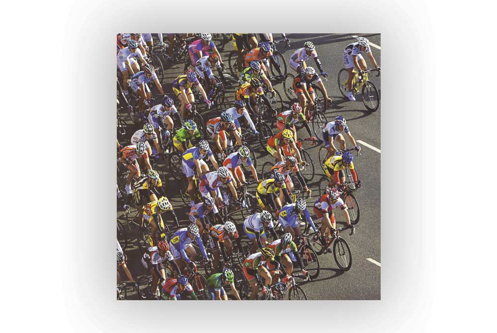 And they're off Bicycle Greeting Card