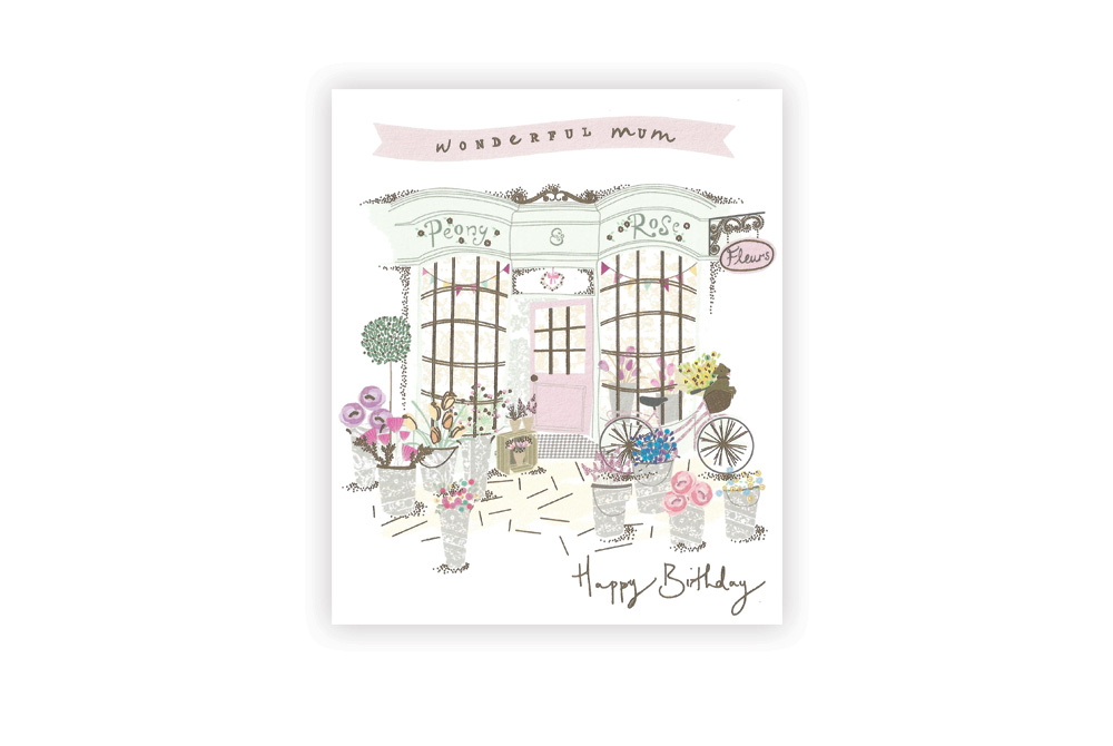 Happy Birthday Mum Bicycle Greeting Card
