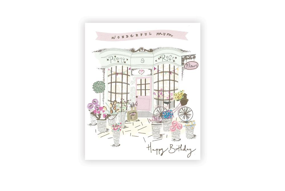 Happy Birthday Mum Bicycle Greeting Card