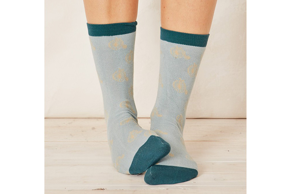 Women's Bamboo Penny Farthing Bicycle Socks – Duck Egg