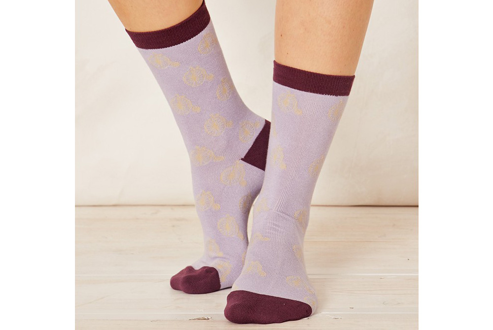 Women's Bamboo Penny Farthing Bicycle Socks – Lilac