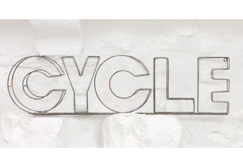 Wire CYCLE Sign