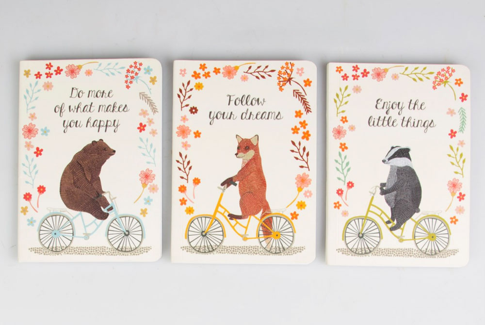 Happy Animals on Bicycles Notebooks