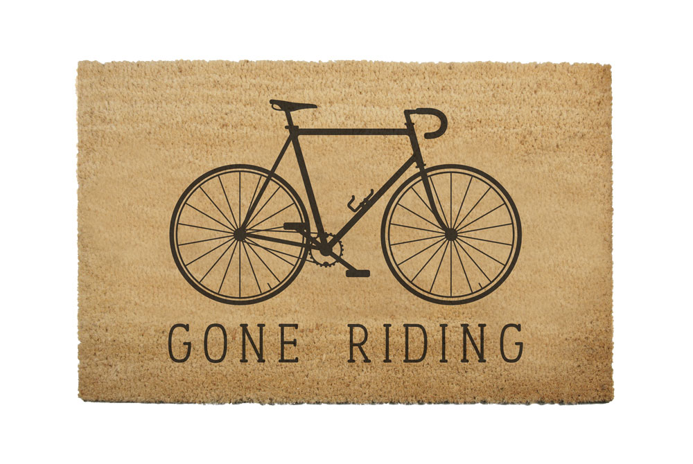 Gone Riding Racing Bicycle Doormat