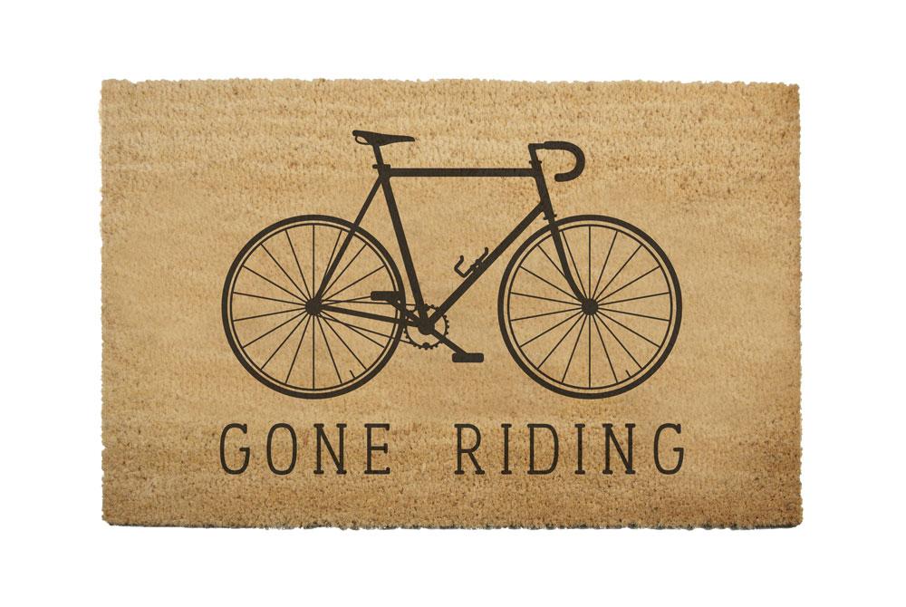 Gone Riding Racing Bicycle Doormat