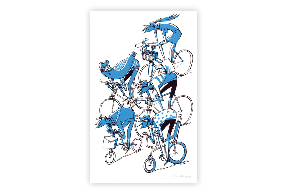 Pimlico Peloton Cycling Screen Print by Beach-O-Matic