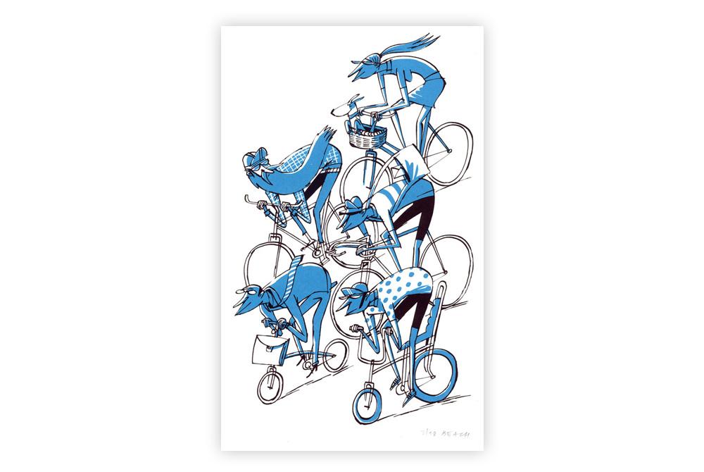 Pimlico Peloton Cycling Screen Print by Beach