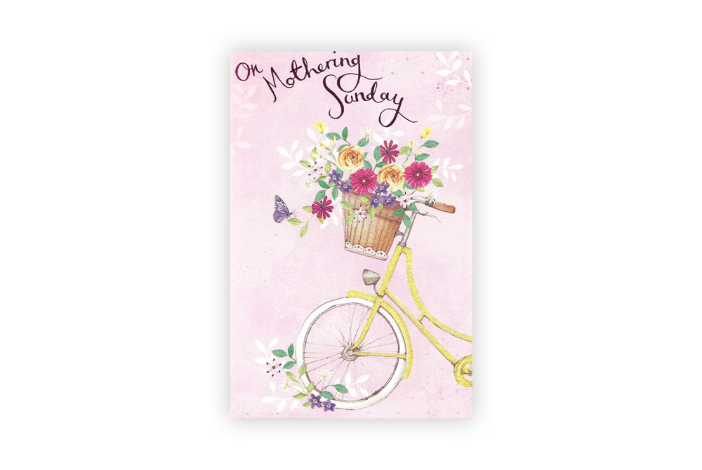 Mothering Sunday Bicycle Greeting Card