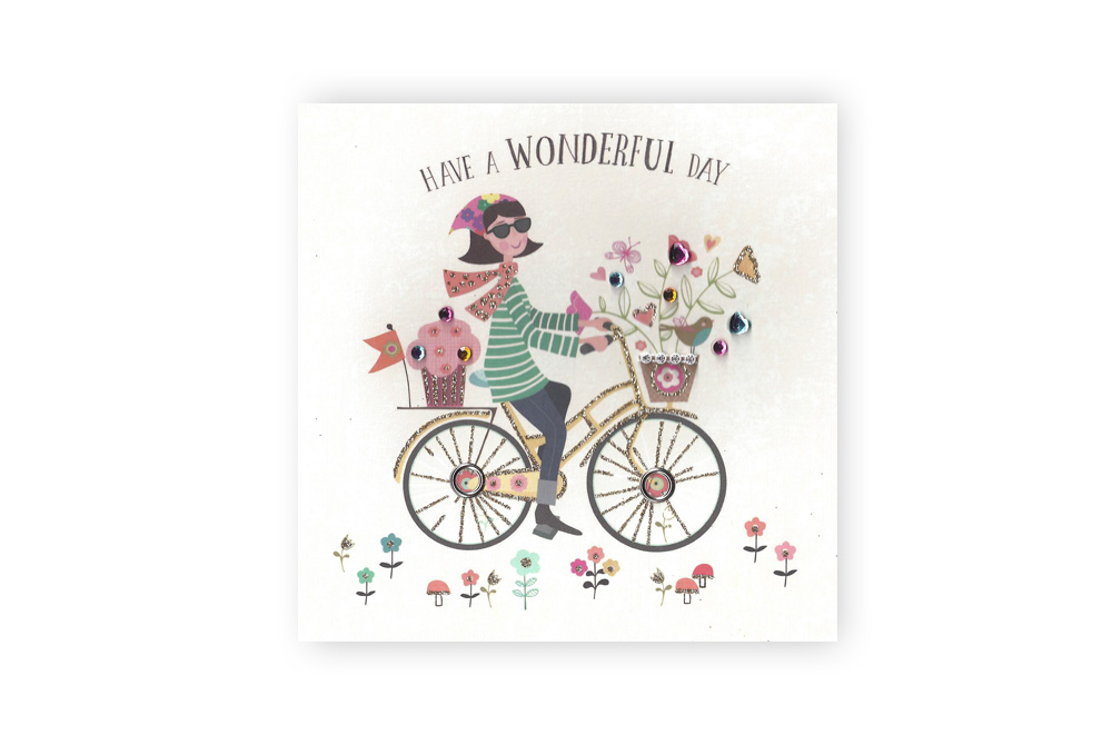Wonderful Day Bicycle Greeting Card