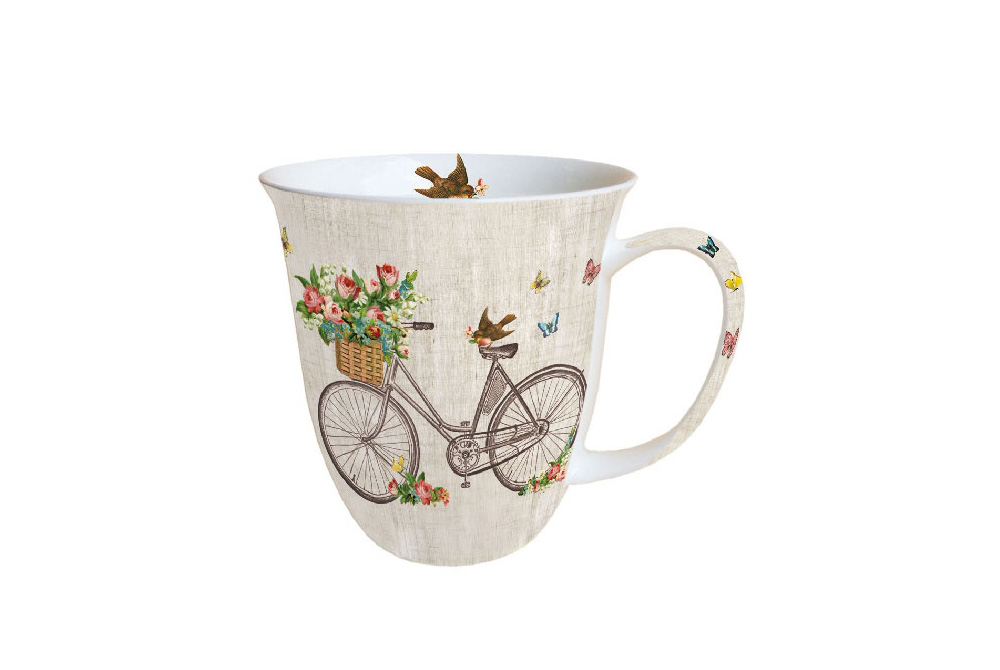 Robin on a Bicycle Mug