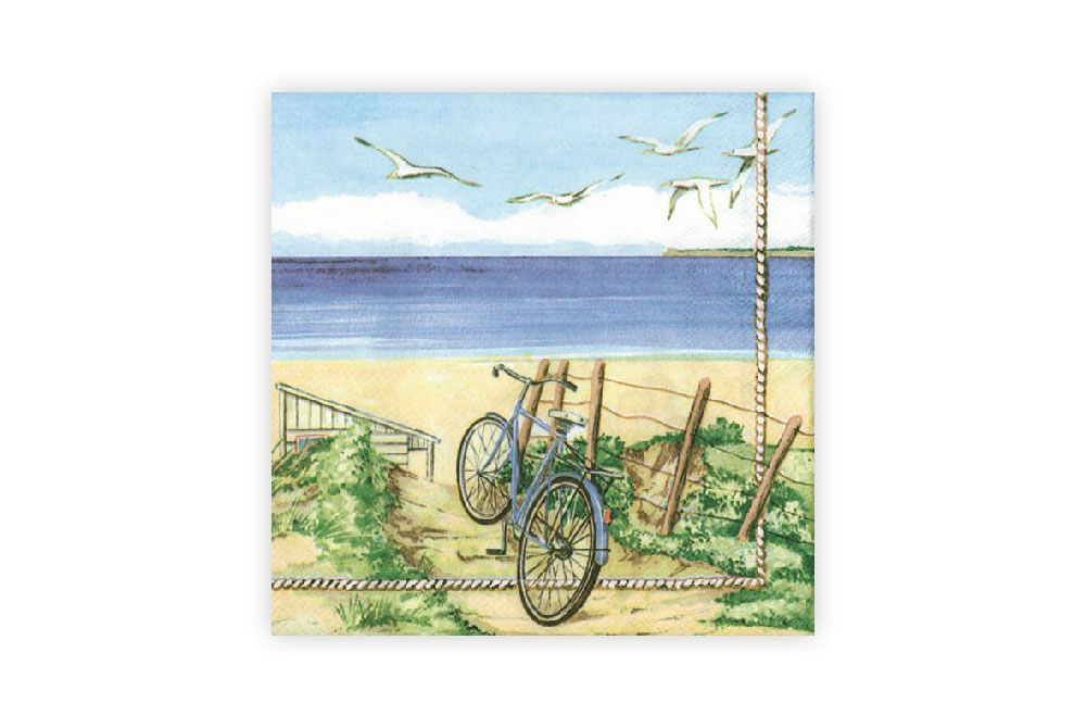 Beach Bicycle Napkins