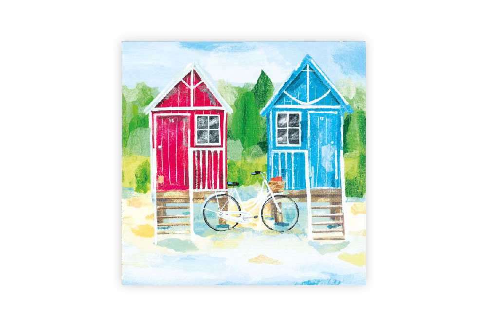 Beach Hut Bicycle Napkins